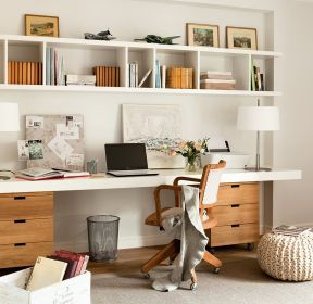 小書房書桌書柜一體圖 -每日推薦