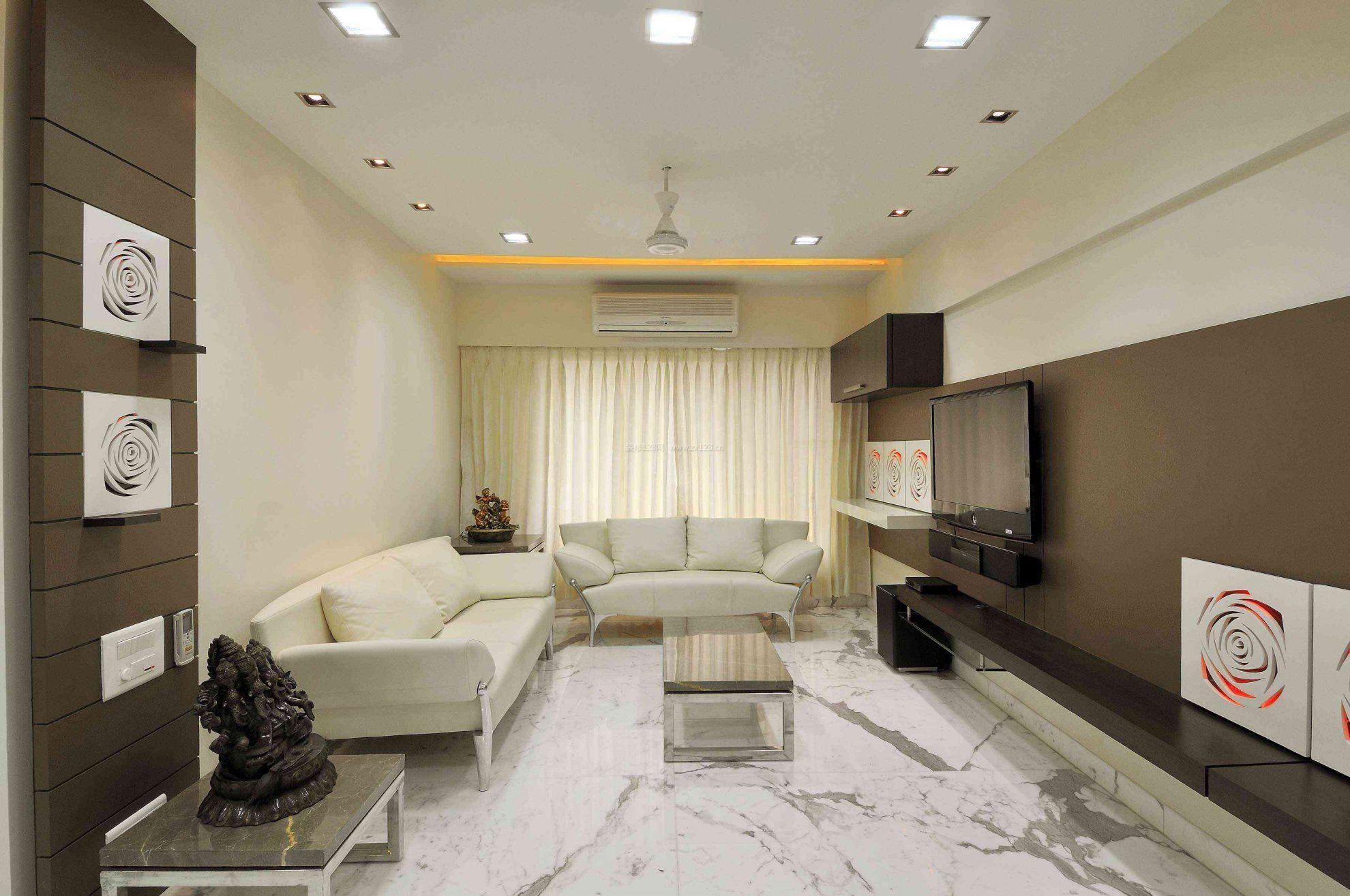 70平小面积客厅地板砖设计效果图