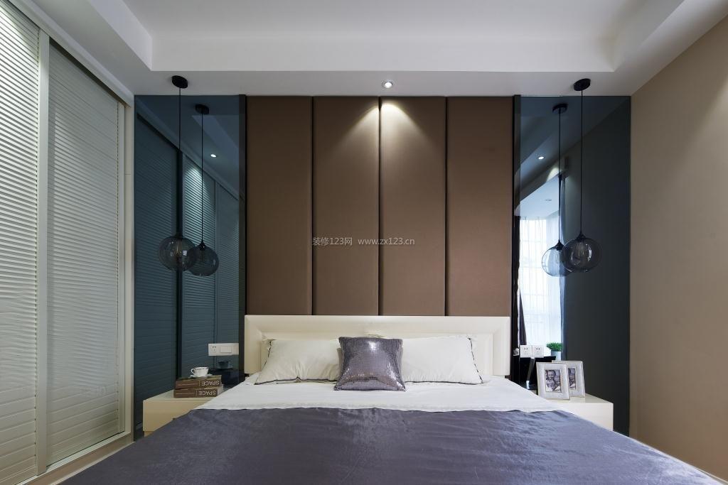 2017现代北欧风格家装卧室床头背景墙设计效果图图片