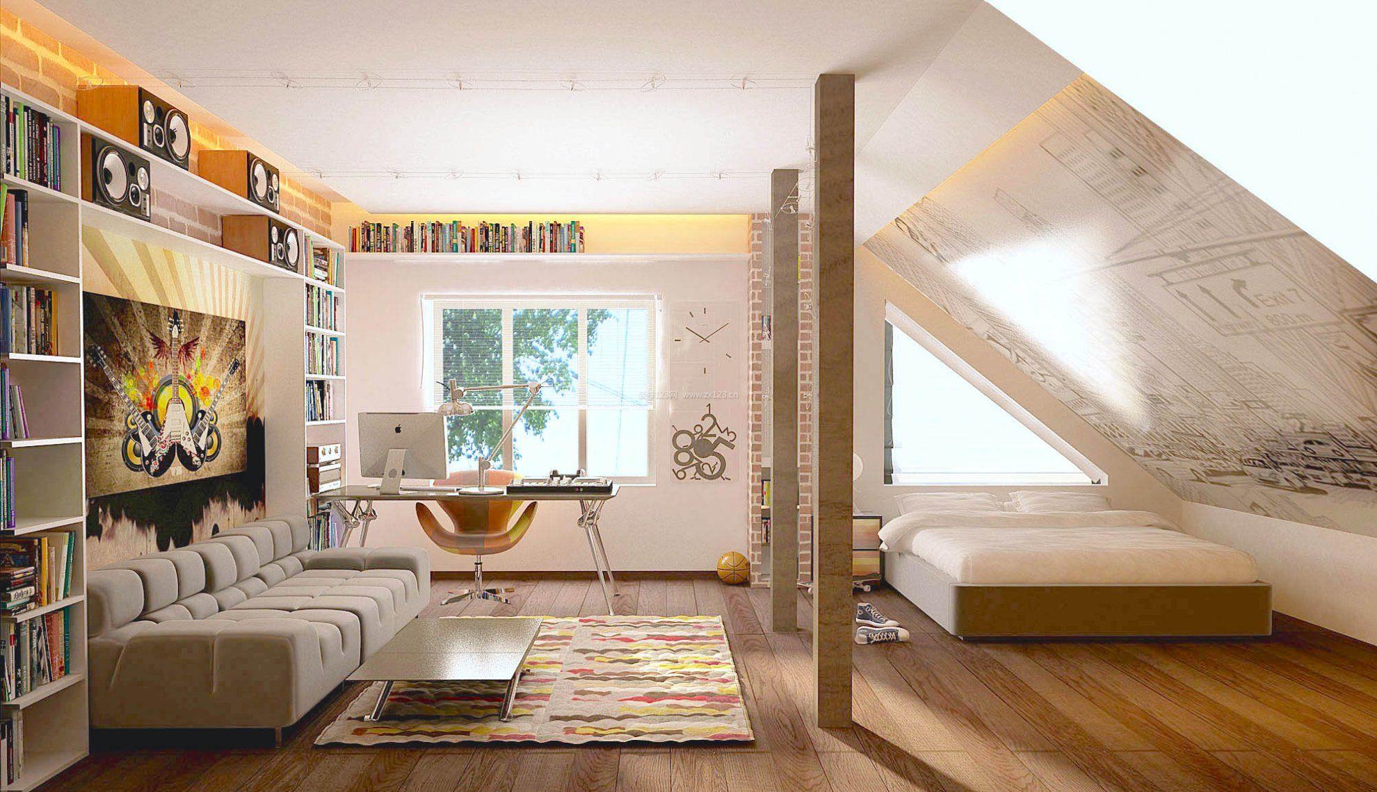 公寓式住宅阁楼客厅卧室装修图片