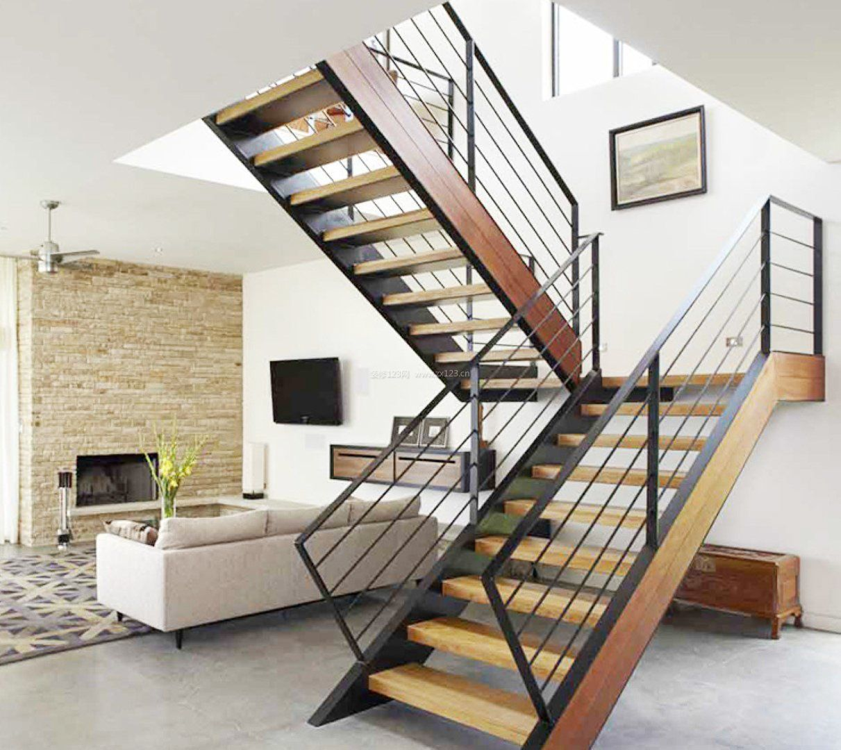 时尚家居楼梯设计装修效果图大全