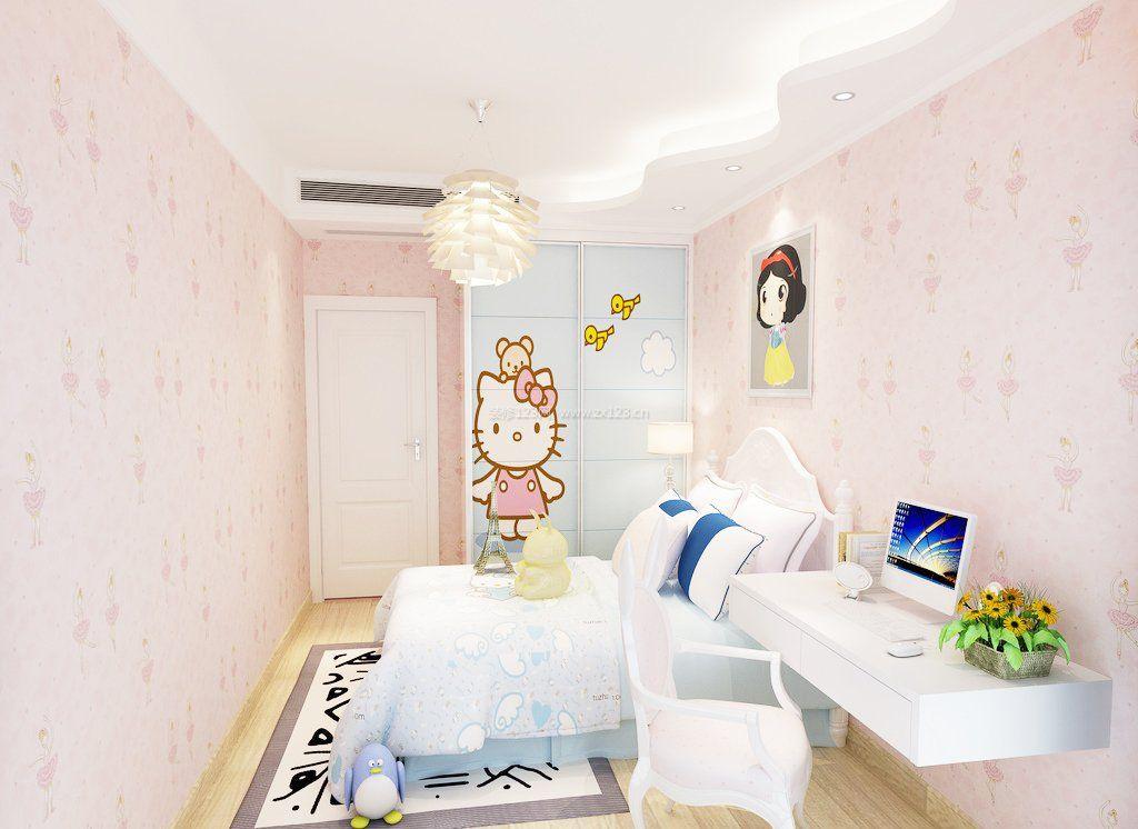 女生小卧室壁纸设计装修图片