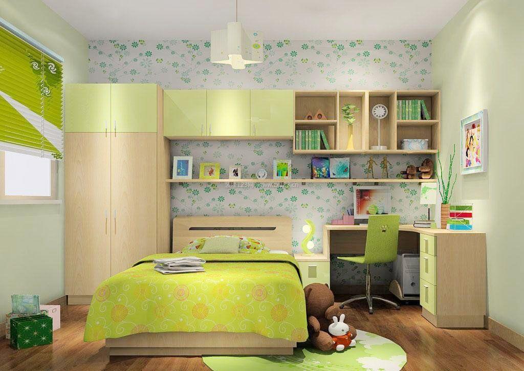 2017女生小卧室墙纸装修效果图片欣赏