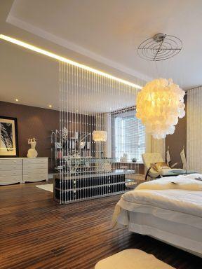7简约欧式风格卧室珠帘隔断装修效果图-2017欧式风格玄关柜装修设计