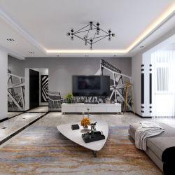 2017新房現代風格客廳電視背景墻裝修效果圖