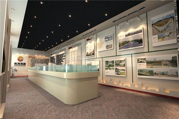 城市规划局展厅布局设计效果图