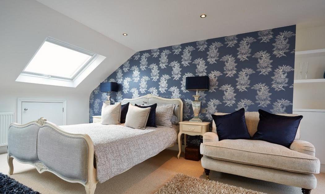房子简单大方卧室背景墙纸装修效果图