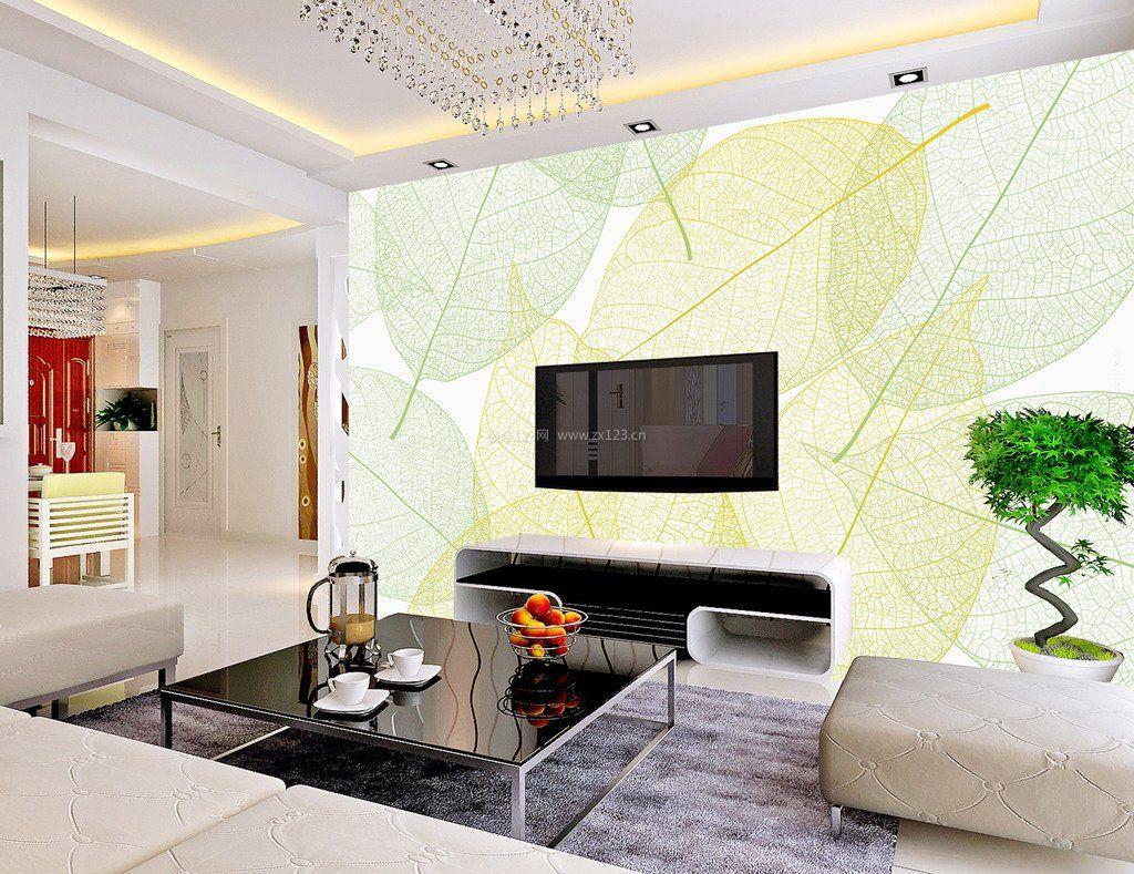 简约客厅电视背景墙手绘图_装修123效果图