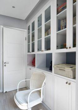 2017北欧书房整体书柜设计装修效果图
