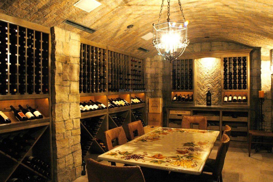 地下室红酒酒窖图片大全2017