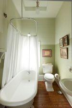 超小浴室浴帘设计装修图