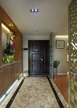 新中式家居进门鞋柜玄关装修效果图图片