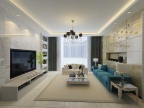 2017两室两厅现代风格装修图 90平米房屋装修设计图图片