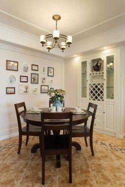温馨沉稳110平米家居室内餐厅酒柜设计图片大全
