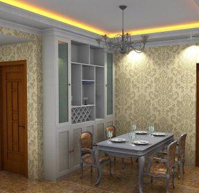 1856 玄关鞋柜3d背景墙装修效果图 2101 90平3室2厅客厅隔断柜装修