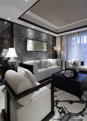 新中式家装效果图 2017客厅地毯搭配效果图片图片