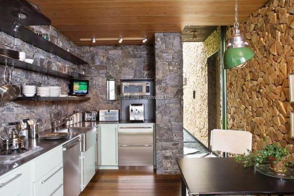 厨房仿古砖墙面装修效果图