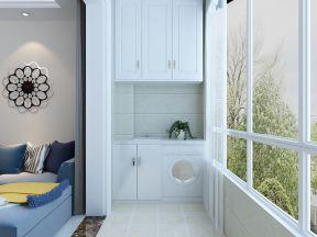 2017现代客厅装修图片欣赏 2017阳台洗衣机柜子装修效果图图片
