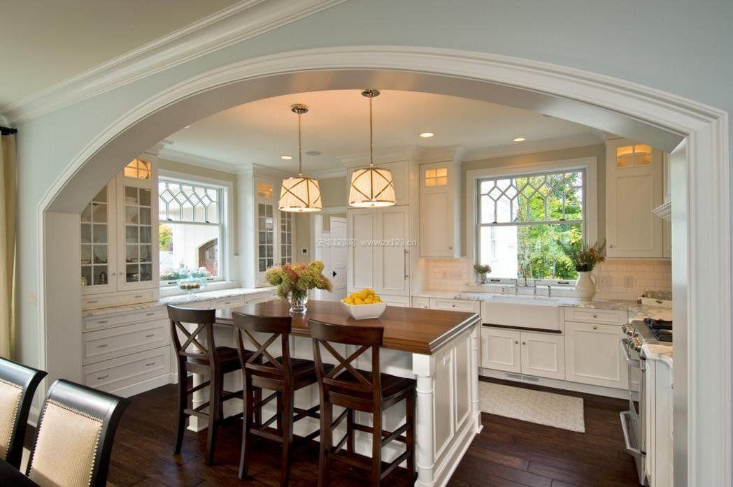 小面积简约美式风格厨房装修图片