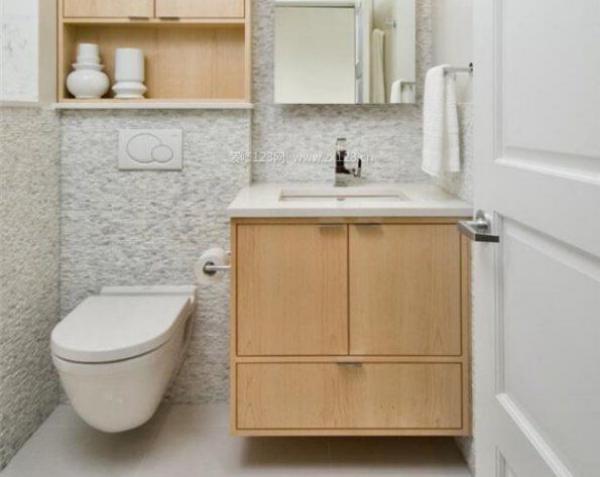 小平米卫生间洗手池装修设计图  首页 装修百科 洗面盆   卫生间洗脸