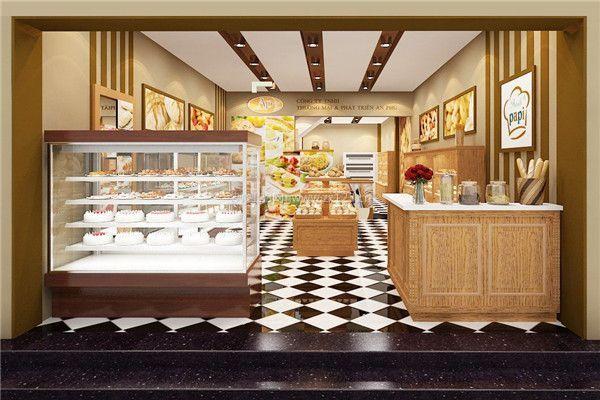 蛋糕店效果图)   2,蛋糕店色彩搭配:    蛋糕店装修设计需要注意色彩