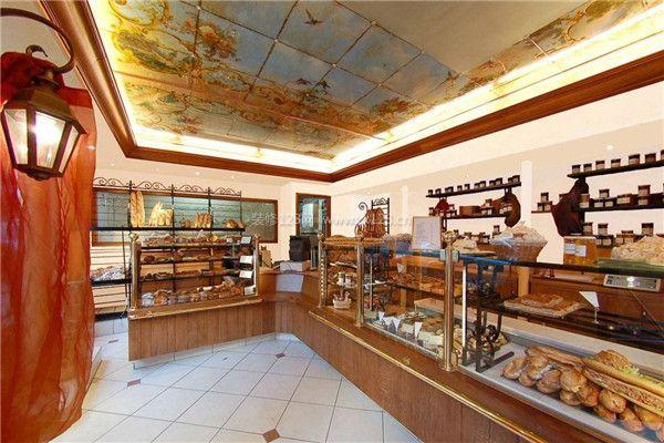 蛋糕店装修设计玻璃展柜设计效果图