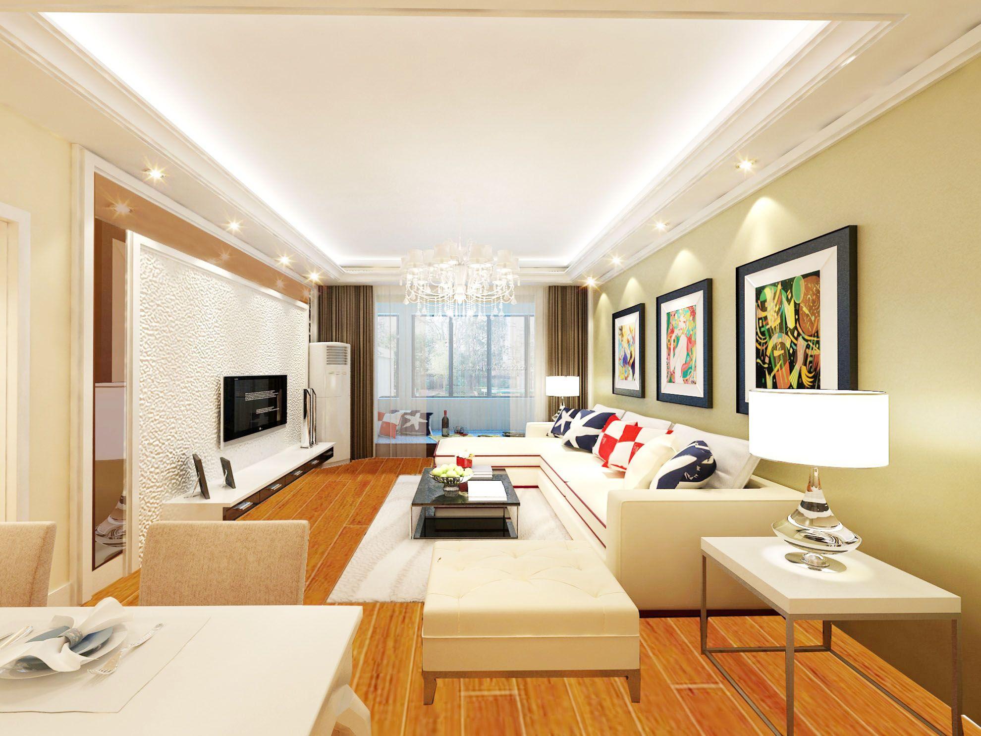 室内硅藻泥电视背景墙装修效果图大全