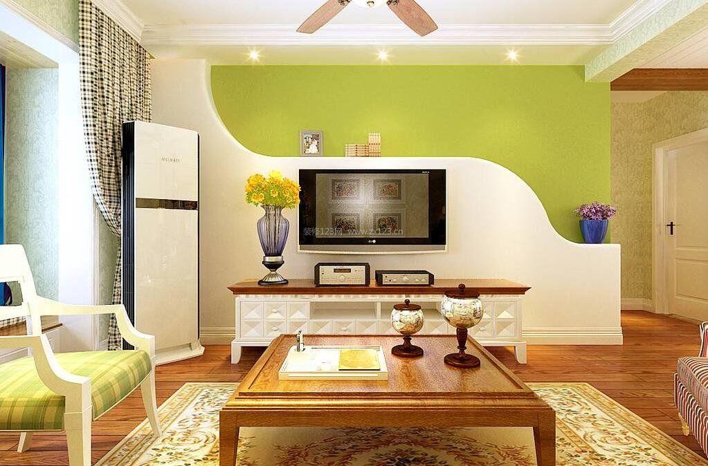 现代欧式硅藻泥电视背景墙装修效果图大全
