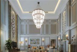 歐式中空別墅客廳燈具設計裝修效果圖