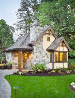 两层图片小石材外墙砖复式红色铺什么别墅入口地面别墅大门图片