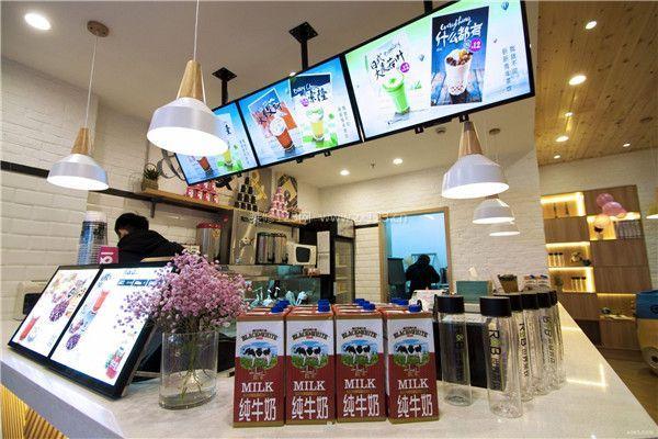 奶茶店装修吧台设计效果图