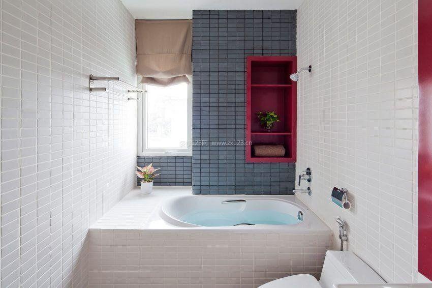 小户型浴室浴缸装修图片大全欣赏_装修123效果图
