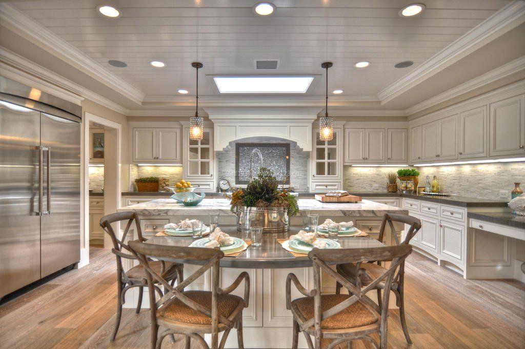 大户型厨房灯池吊顶装修效果图图片