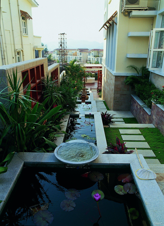 小型别墅露台花园效果图