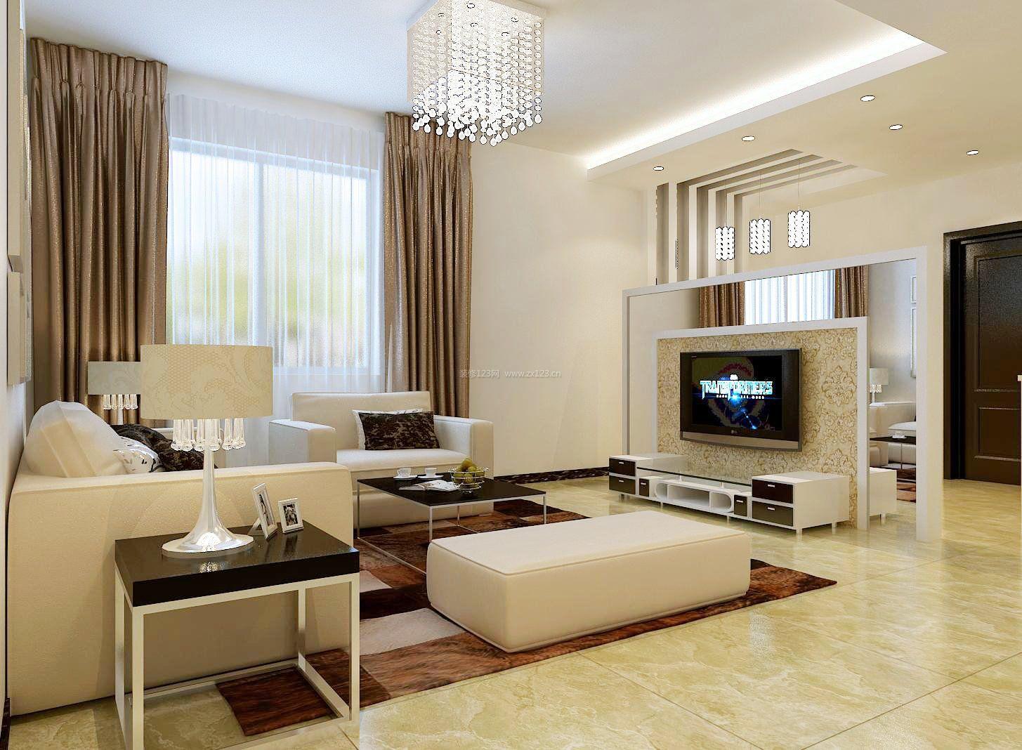 90平方米房屋客厅设计装修效果图大全