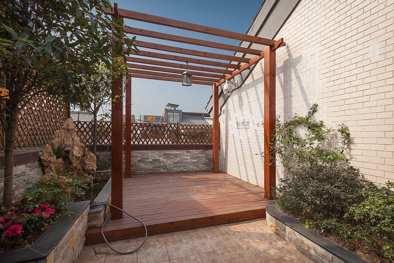 小型露台花园设计效果图欣赏