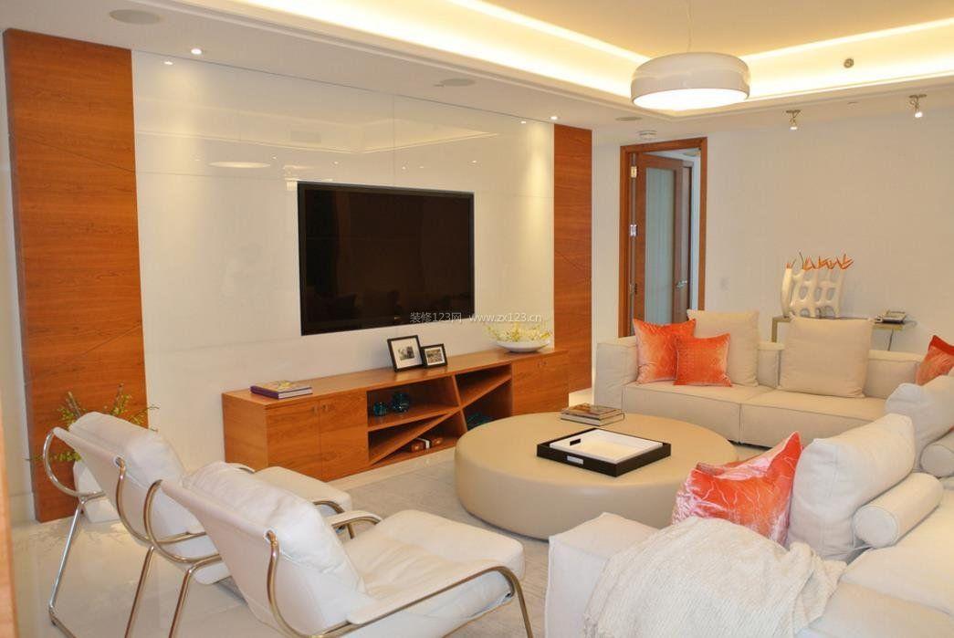 现代简约设计风格客厅整体效果图片_装修123效果图