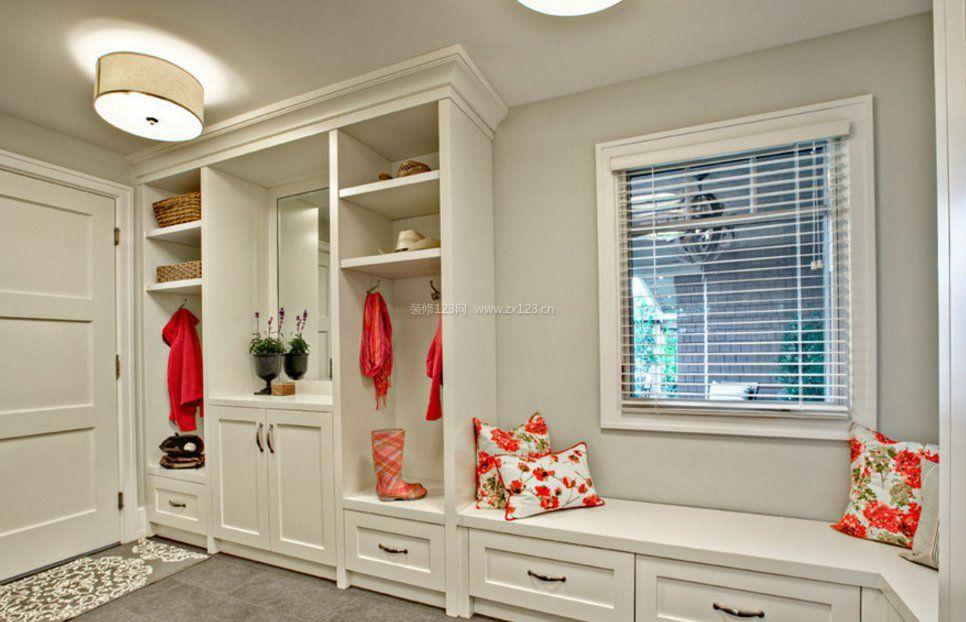 家装门口整体鞋柜造型设计图片赏析_装修123效果图
