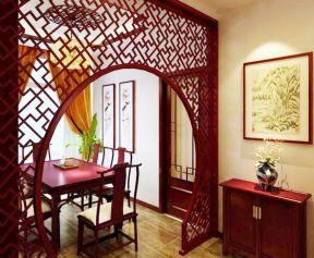 新中式鏤空雕花隔斷圖片