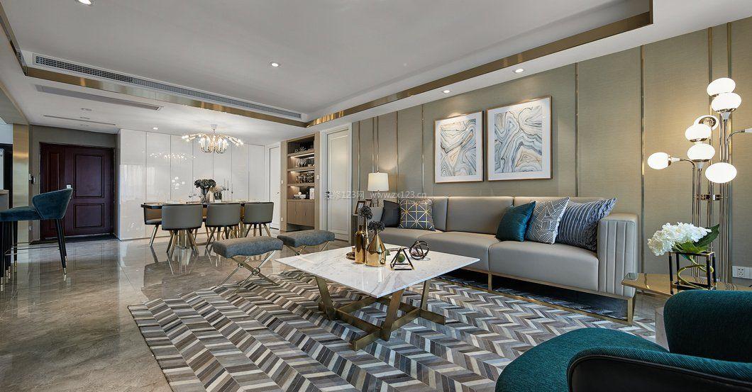 拓者设计吧时尚现代客厅装修效果图图片