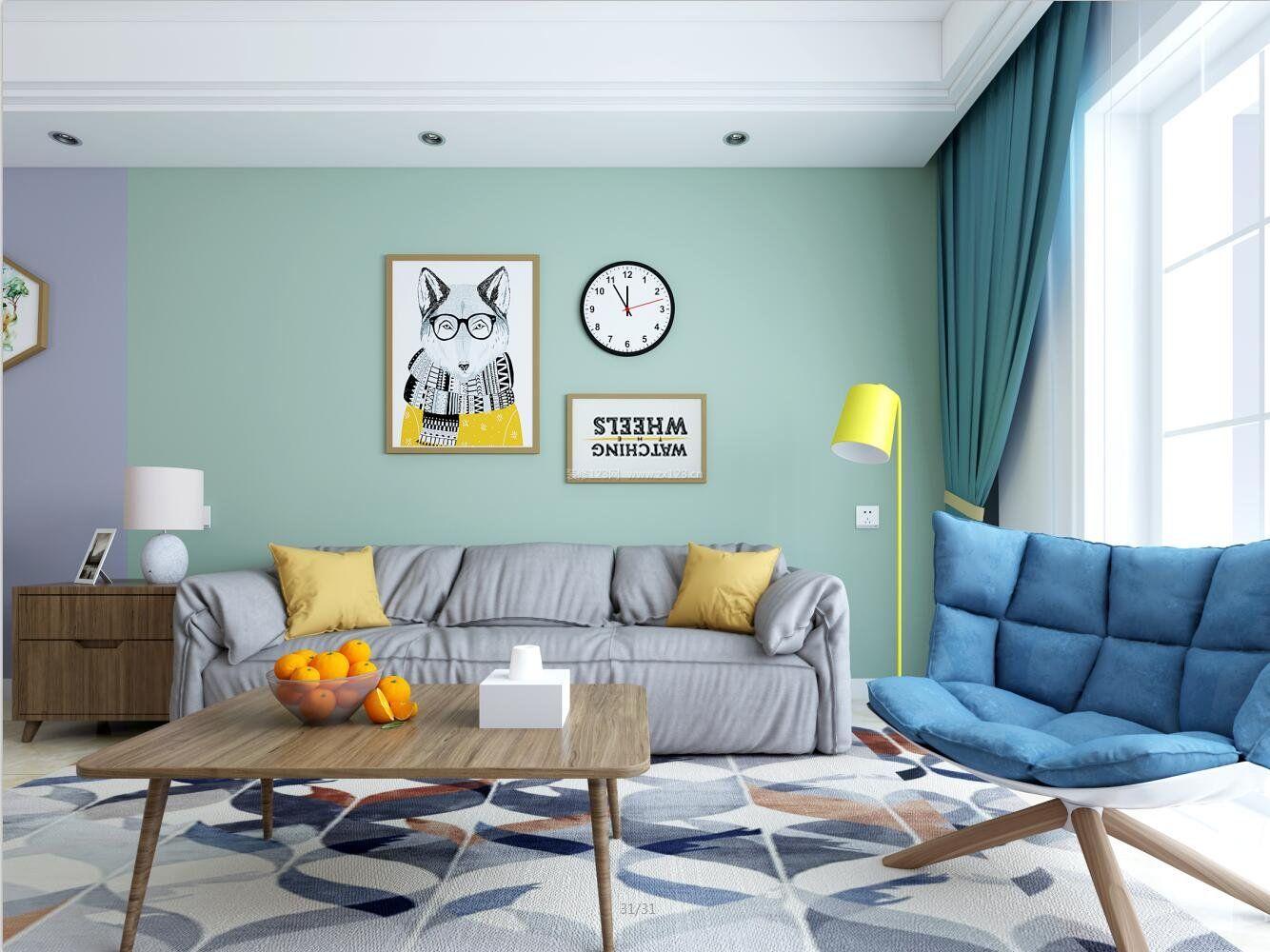 拓者设计吧现代温馨客厅装修效果图图片