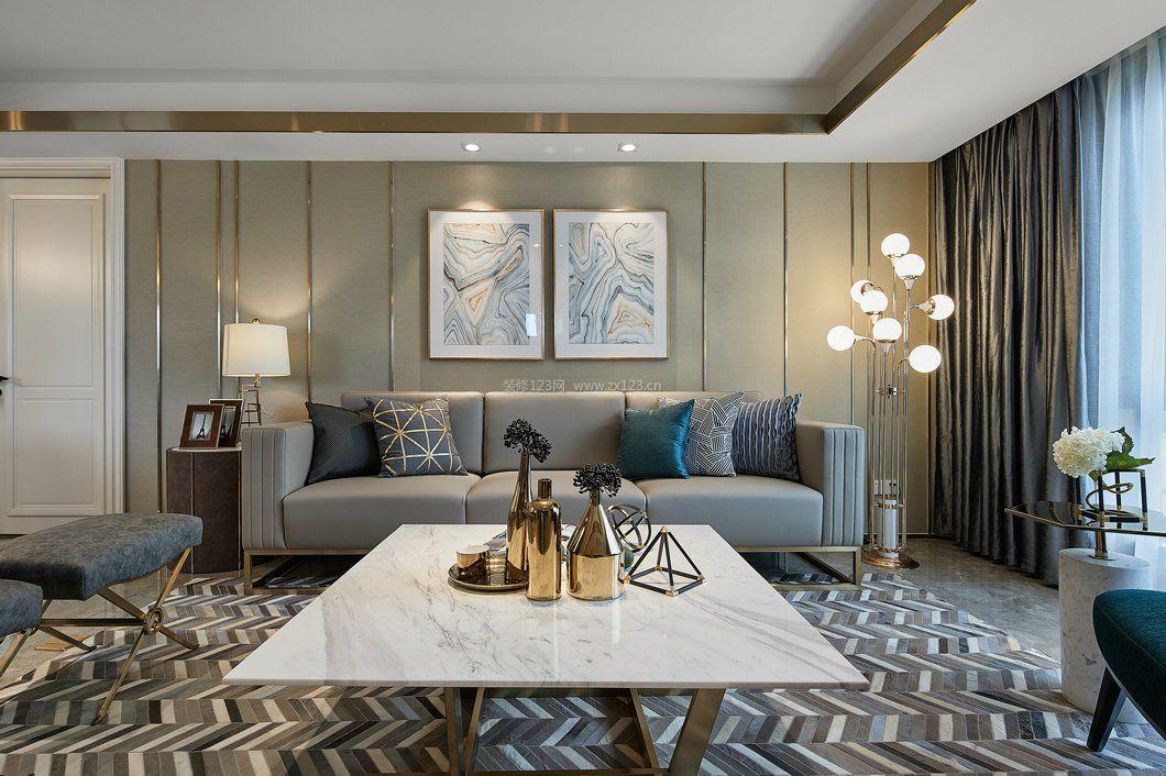 拓者设计吧现代客厅沙发背景墙装修效果图片图片