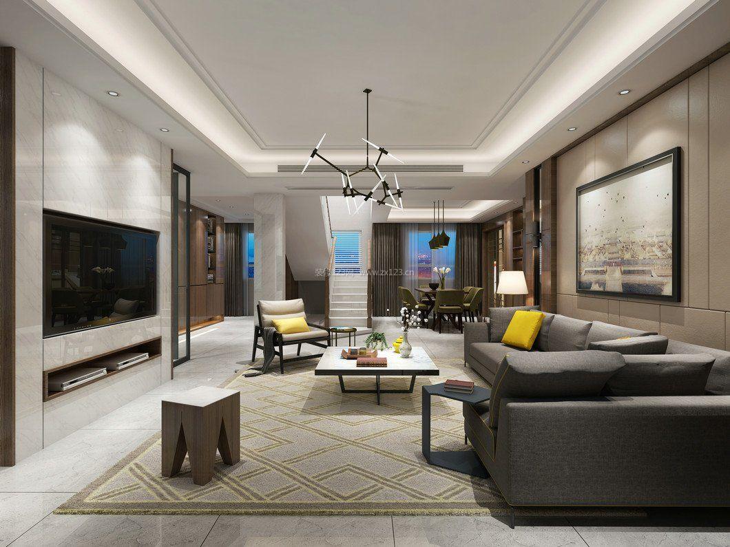 拓者設計吧現代客廳整體裝修效果圖圖片