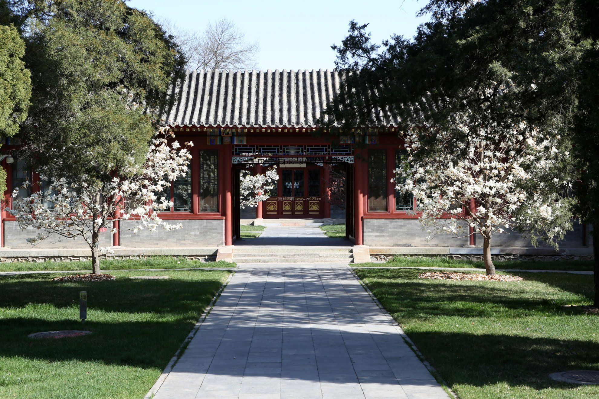 盘锦四合院园林别墅别墅_装修123效果图北京水湾西图片图片