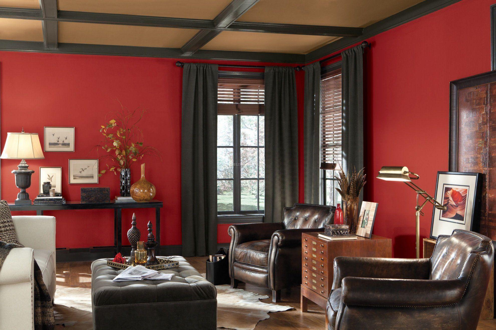 古典客厅墙面漆颜色效果图
