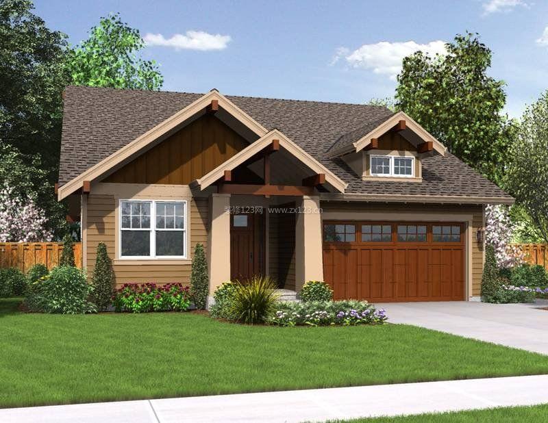 农村自建平房庭院设计效果图