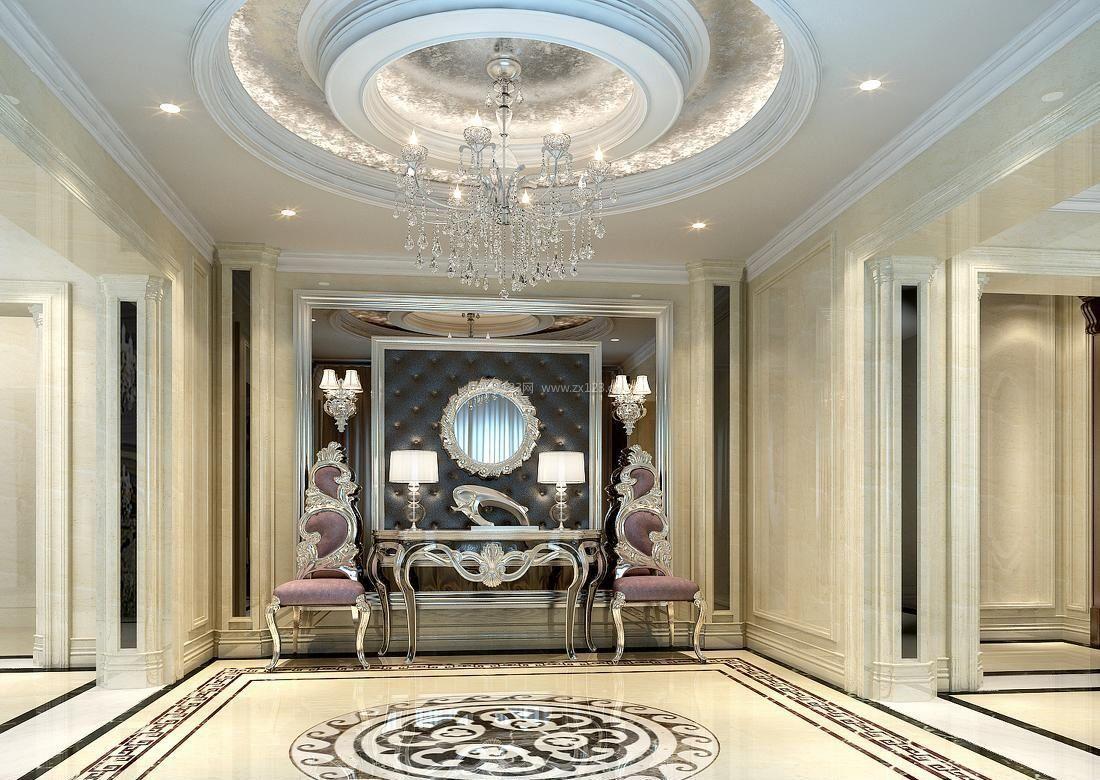 欧式别墅别墅装修效果图大全_装修123效果图在的滨江门厅杭州房产图片