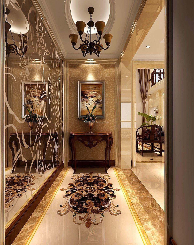 欧式别墅进门门厅装修效果图大全