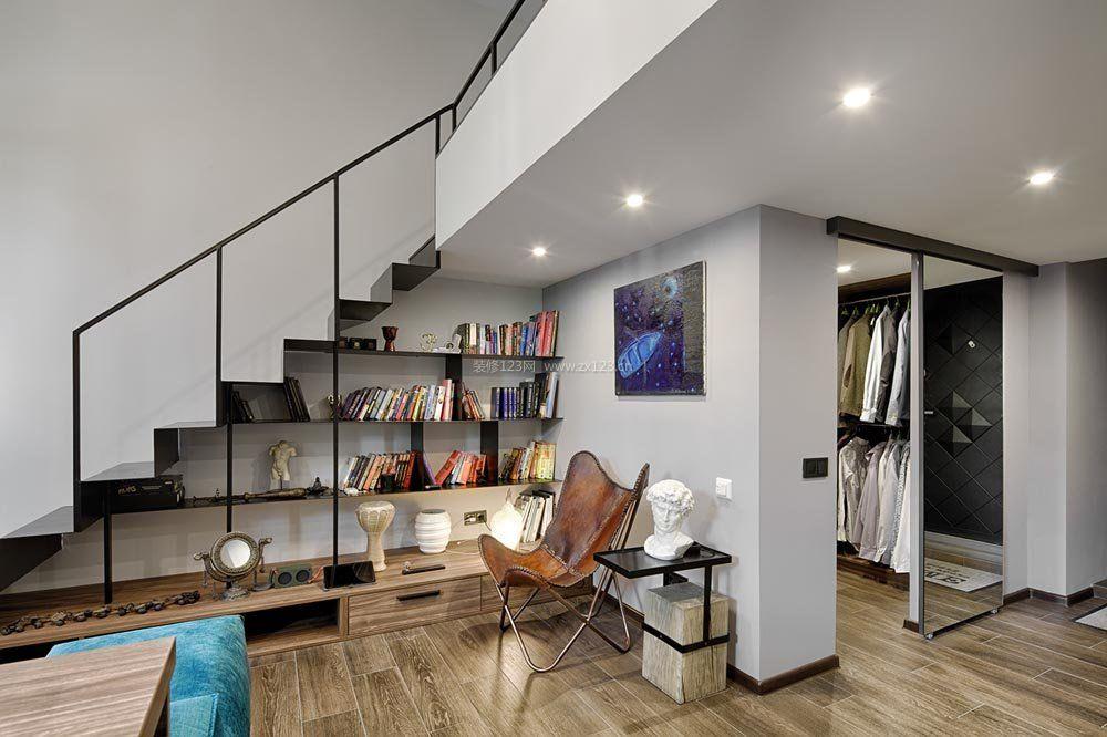 40平米复式单身公寓楼梯间装修图片_装修123效果图图片