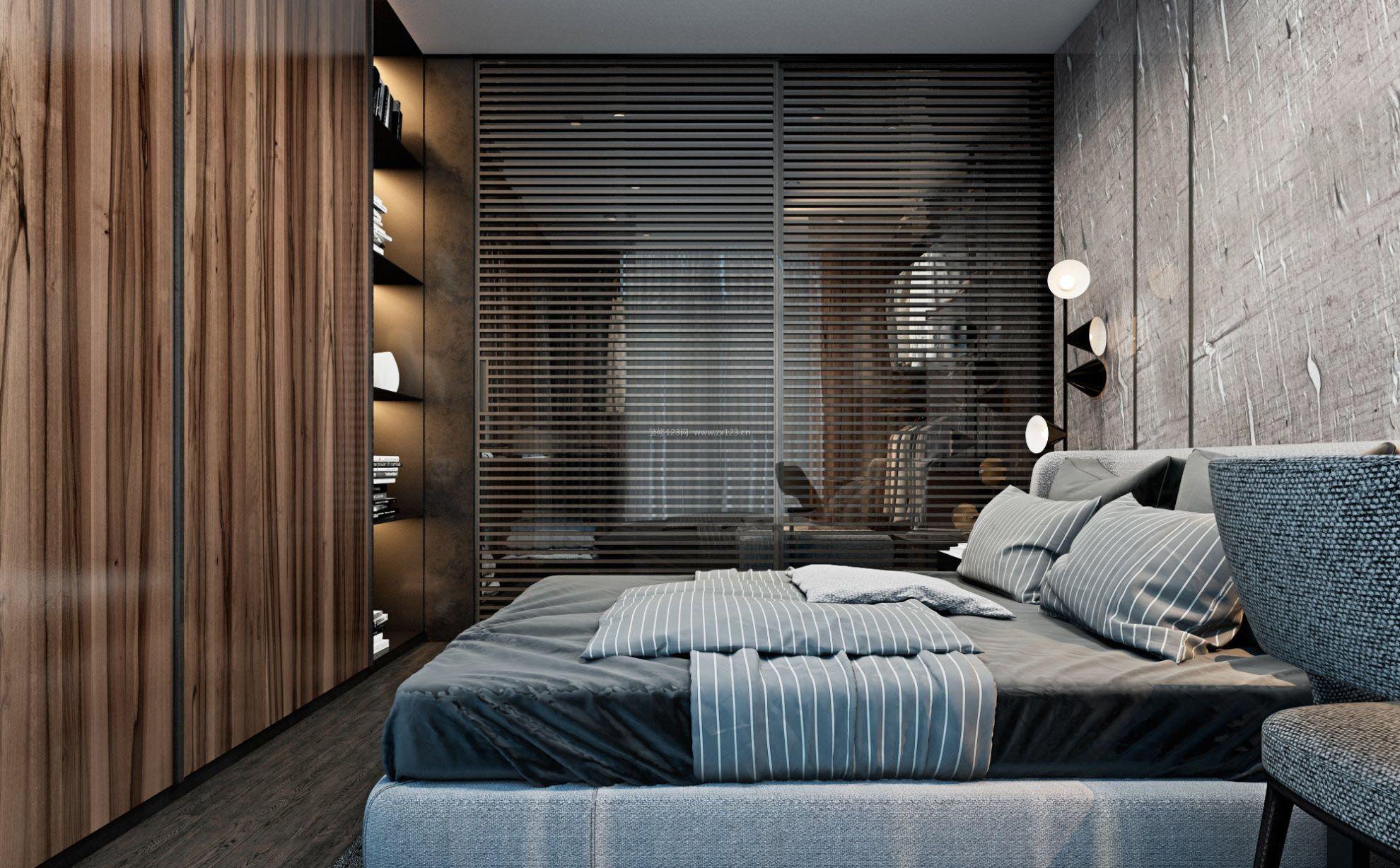 40平米单身公寓男生卧室装修图片